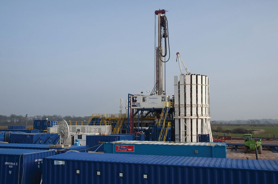A fracking rig: government intends to speed consents process
