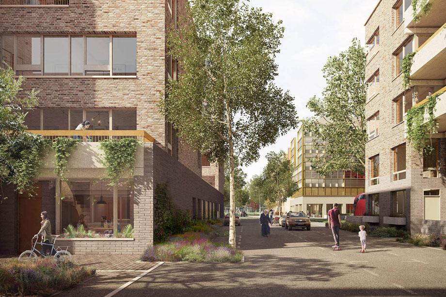 A visualisation of the finished development