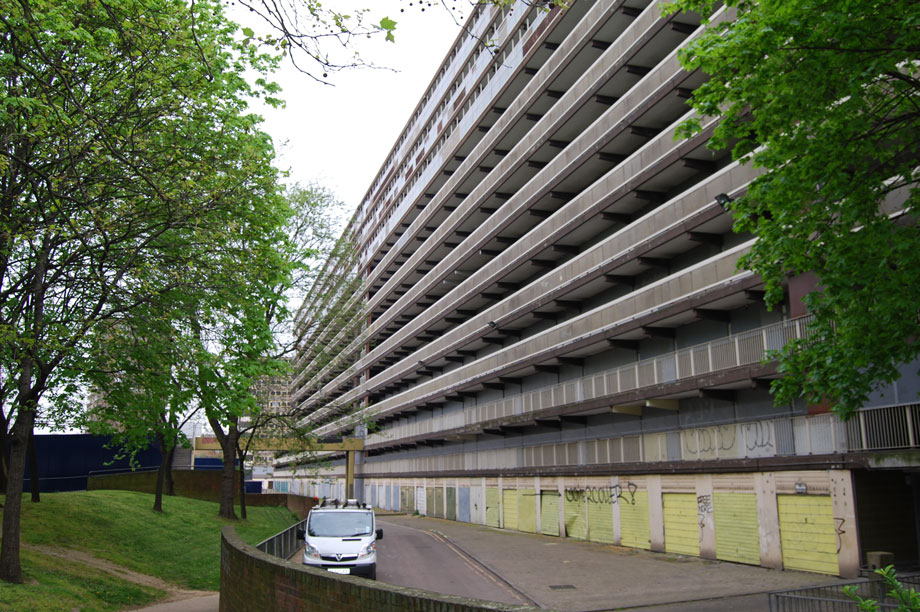 The now-demolished Heygate Estate in south London