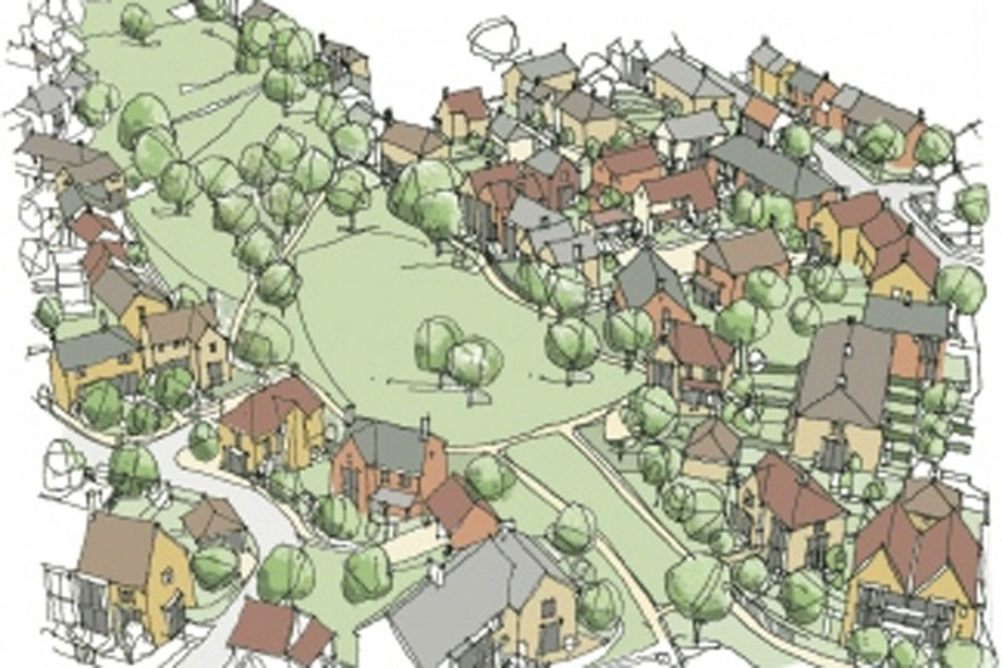 Kings Hill: artist's impression of the new homes