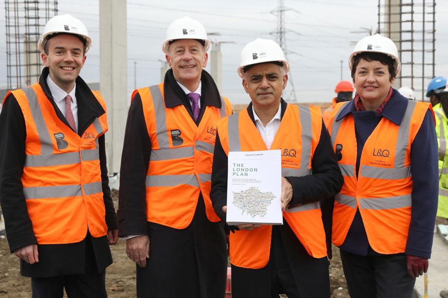 London mayor Sadiq Khan launching the document earlier this week at Barking Riverside
