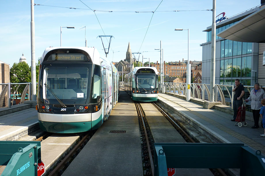 Nottingham tram: Grayling says improved links have boosted local economy (picture: DfT)