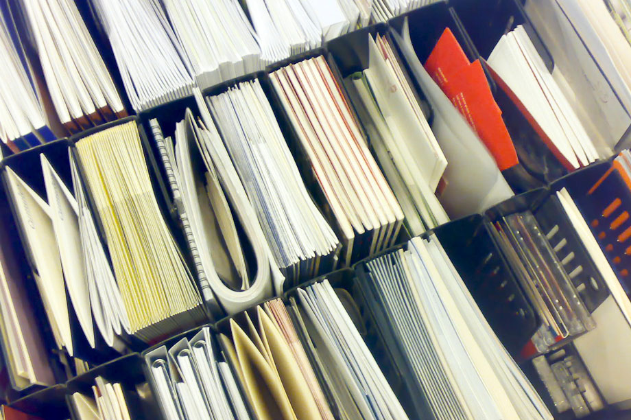 Paperwork: less is more (pic: Carst van der Molen via Flickr)