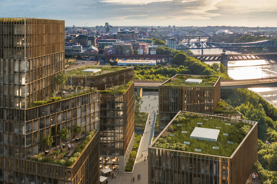 A visualisation of the finished Quayside West development