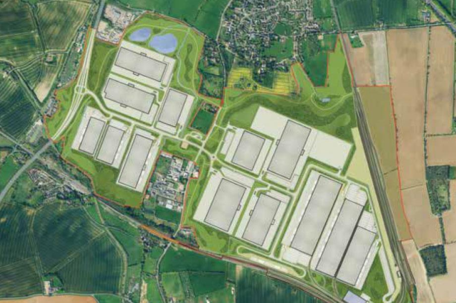 A masterplan visualisation of the Rail Central scheme