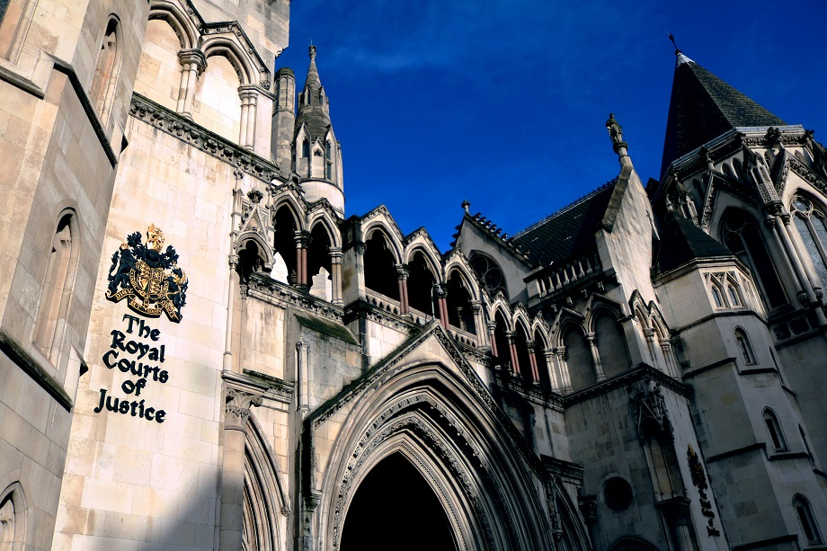 The Royal Courts of Justice in London. Pic: Getty Images