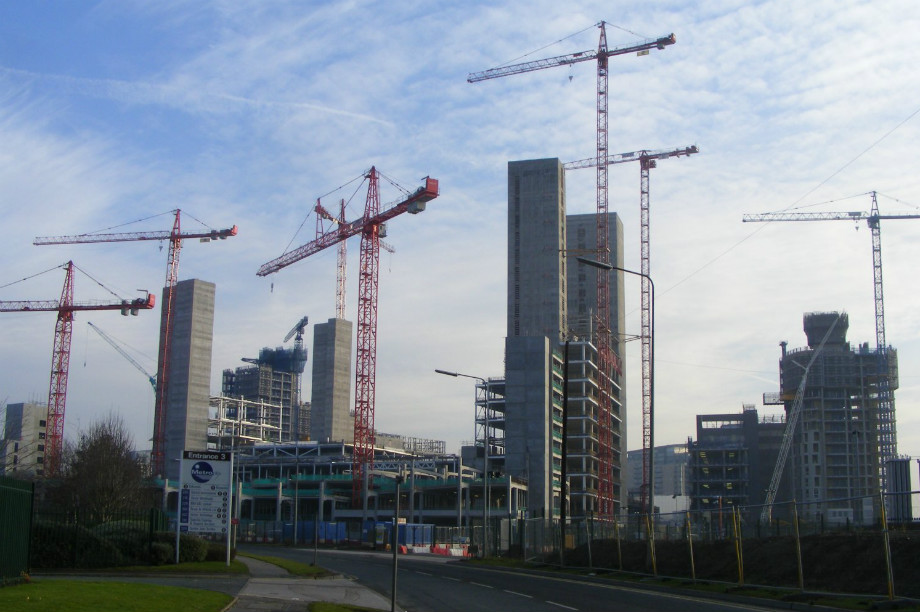 Construction in Salford: authority set to receive more than £10 million of New Homes Bonus cash in 2016/17 (picture by Pimlico Badger)