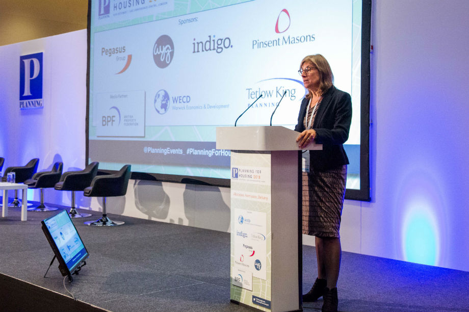 Sarah Richards speaking this morning at the Planning for Housing conference