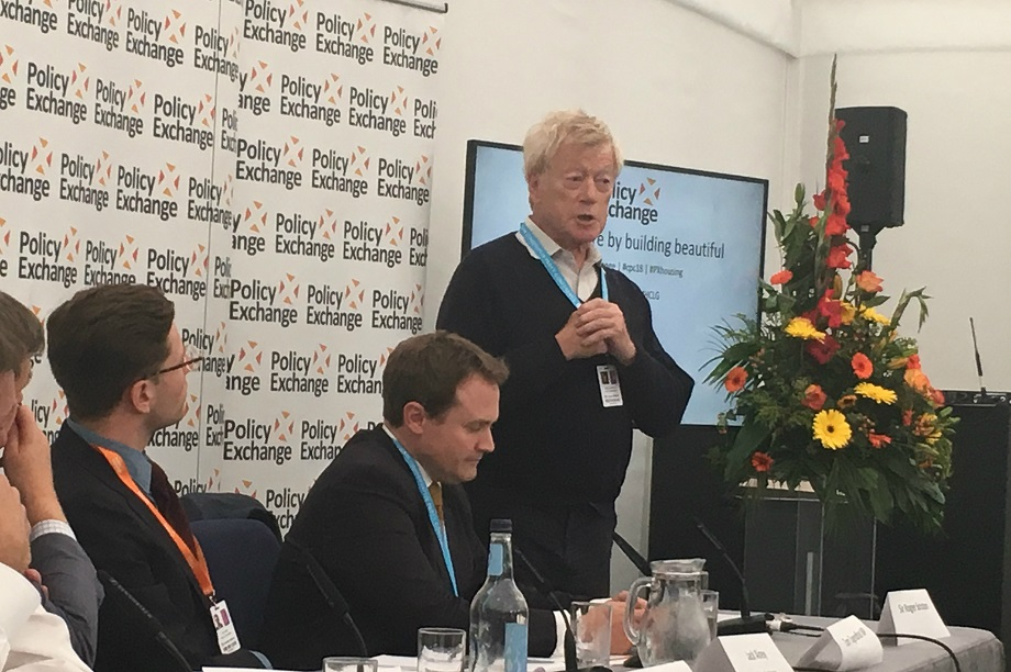 Roger Scruton speaking at a Conservative Party Conference fringe event last month.