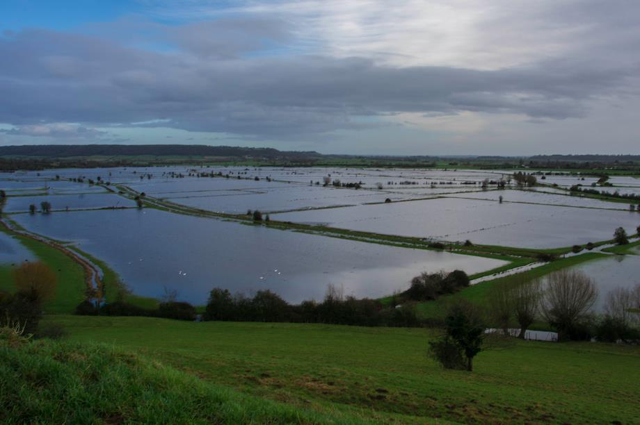 View of the Somerset Levels (Pic: Getty)