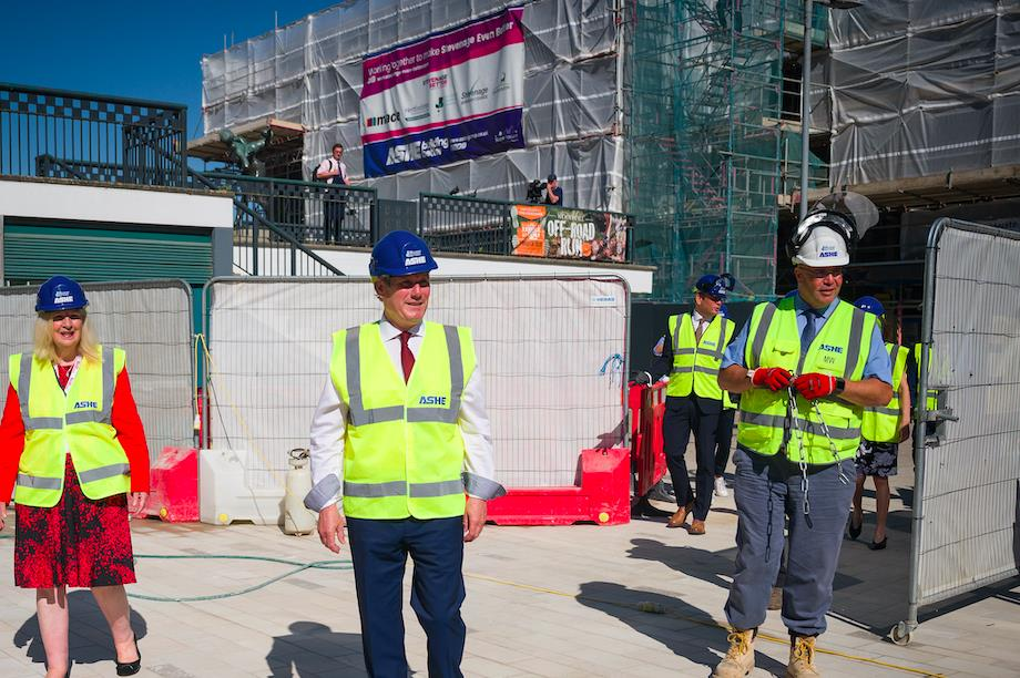 Labour Party leader Sir Keir Starmer visited Stevenage's developing town square last year (Pic: Getty)