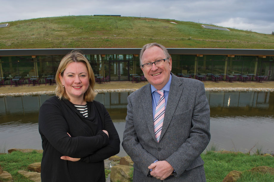 Key players on motorway project: Stroud District Council principal planning officer Holly Simkiss and Pegasus Group managing director Tony Bateman
