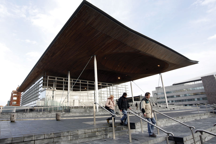 The Welsh Assembly building