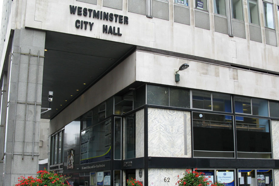 Westminster City Council's offices in Victoria
