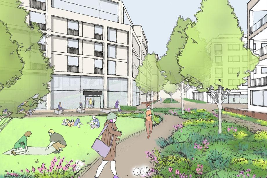 A masterplan visualisation of the development. (Image courtesy of Heworth Green Development Ltd and Moda Living Ltd)